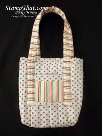 Candy Cane Fabric Bag