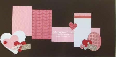 Stampin' Up! Valentine Scrapbook Page