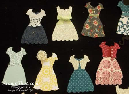 Stampin' Up! paper dresses