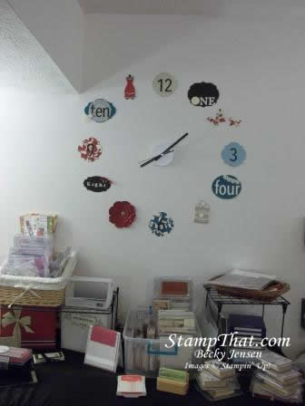 Stampin' Up! Clock