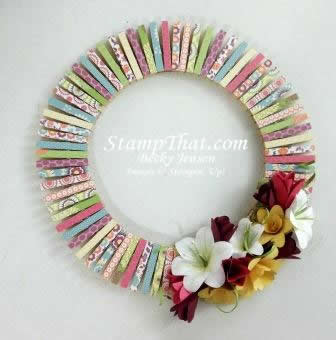 Handmade spring wreath with handmade paper flowers handmade spring wreath mightylinksfo