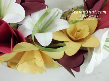 Handmade paper Lilies & daffod
