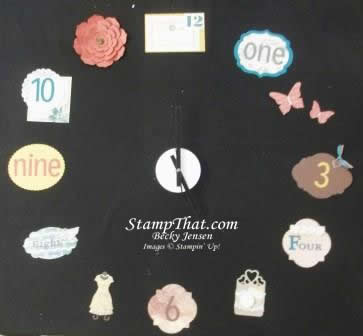 Another Handmade Stampin' Up! Clock