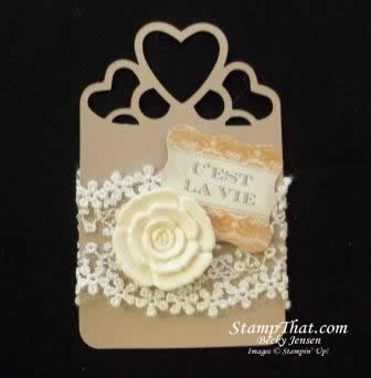 stampin up artisan embellishments