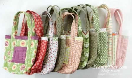Bags made with Stampin' Up! Fabric