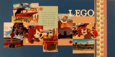 Lego scrapbook page