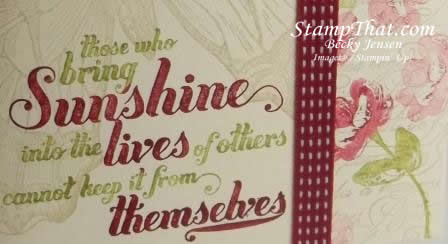 Stampin' Up! Feel Goods