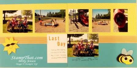 Park scrapbook page