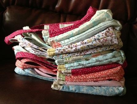 handmade fabric bags