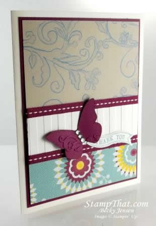 Striped embossing folder
