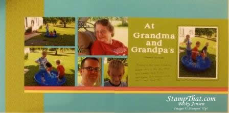 Visiting Grandma Scrapbook page