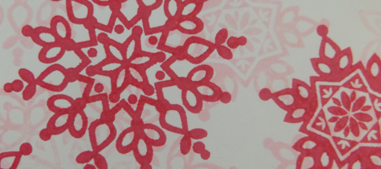 Festive Flurry Stamp Set in Pink