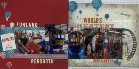 Carnival Ride scrapbook pages