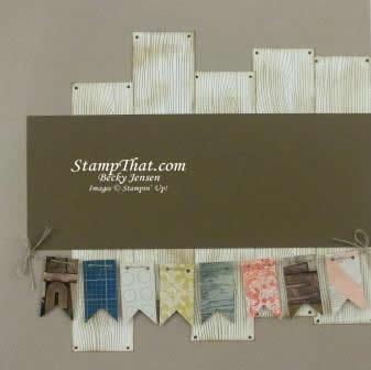 Woodgrain scrapbook page