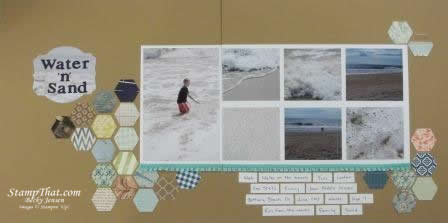 Six-Sided Sampler scrapbook page