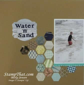 Water n Sand scrapbook page