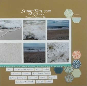 Stampin' Up! DSP on Scrapbook pages