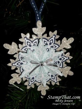 handmade snowflake Christmas ornament