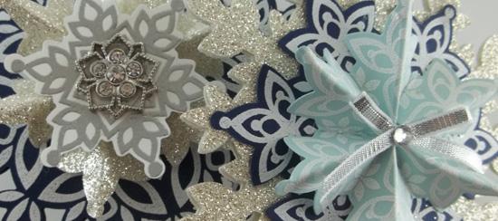 Handmade Blue & Silver Snowflake Ornaments