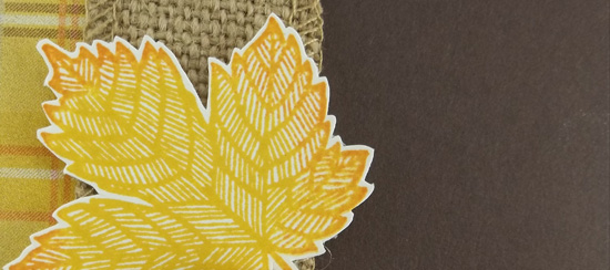 Magnificent Maple & Burlap Card