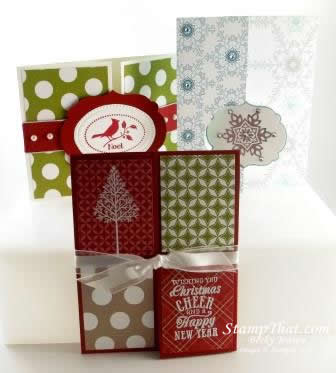 stampin up christmas cards - Folded Christmas Cards