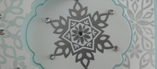 Festive Flurry Snowflake Flip Card