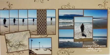 Coronado Island Scrapbook Pages
