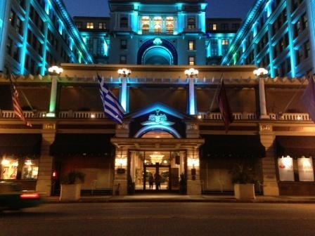 US Grant Hotel at night