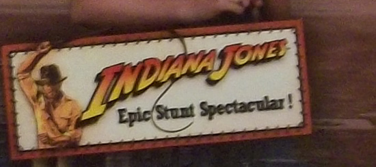 Indiana Jones Epic Stunt Theatre Scrapook Page