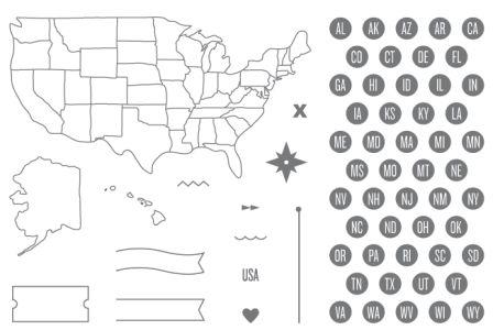 Map it out stamp set