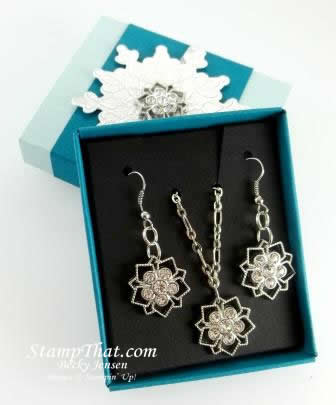 Stampin' up! Frosted Finishes Embellishments Jewelry
