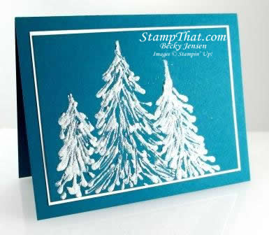 Snowy Pines Technique Card