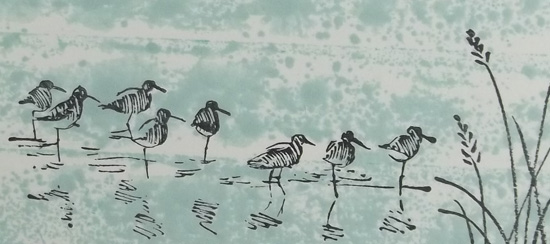 Wetlands Stamping Technique Card