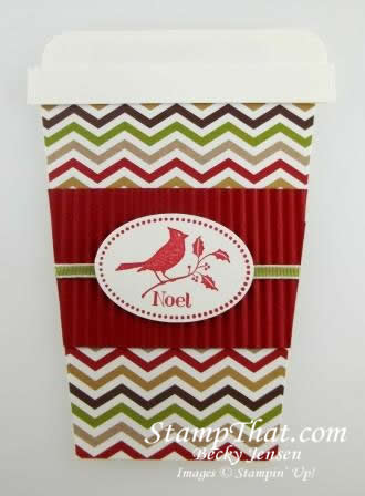 Stampin' Up! Handmade Gift Card holder