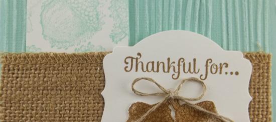 Day of Gratitude Handmade Card
