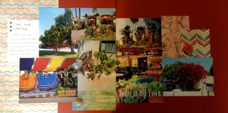 Old Town San Diego Scrapbook page