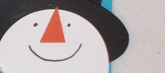 Handmade Snowman Gift Tag