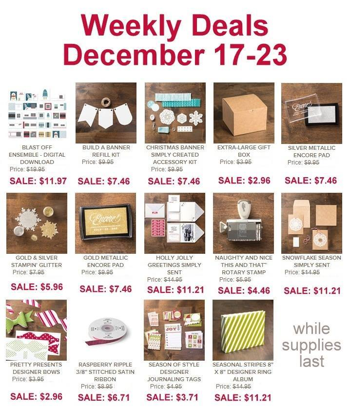 Stampin' up! Sale week of 12/17/14