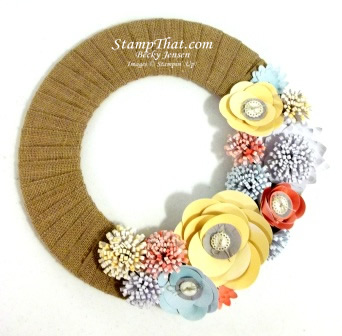 Burlap and Blooms Wreath Kit