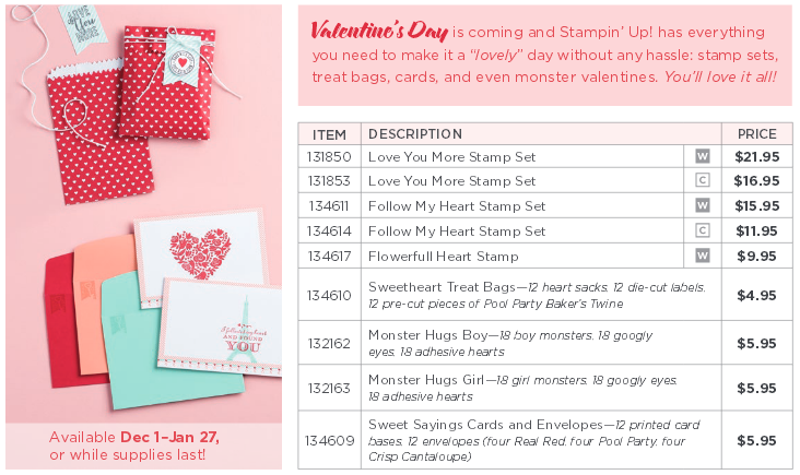 Stampin' Up! Valentine Product
