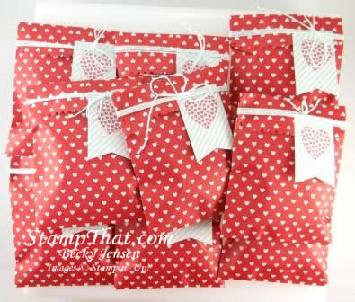 Sweetheart Treat Bags from Stampin' Up!