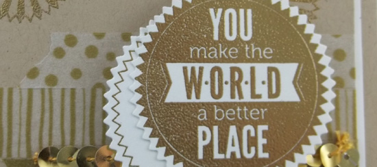 Golden Starburst Sayings Card