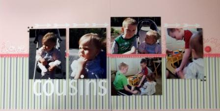 Cousins scrapbook page