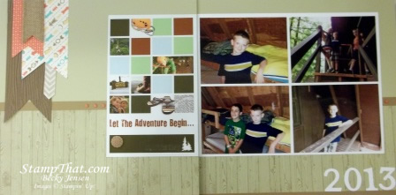Summer Camp Scrapbook Page
