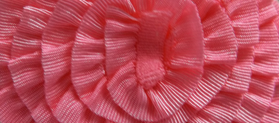 Strawberry Slush Ruffled Stretch Trim