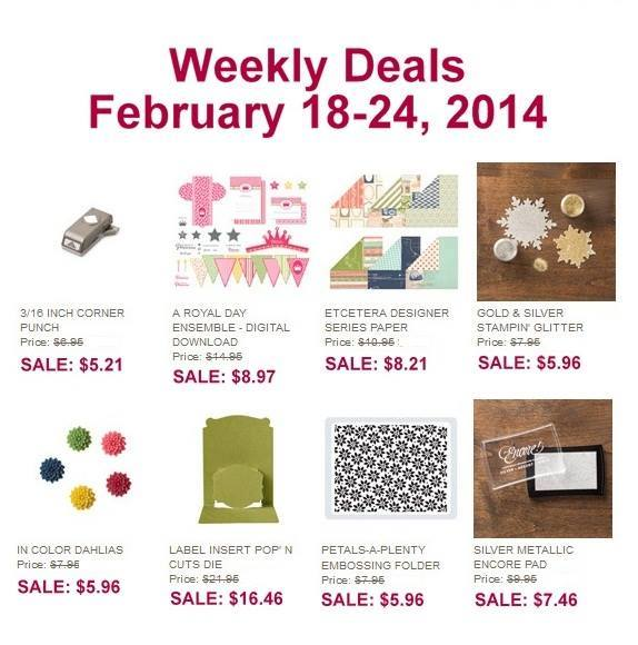 2-18-13 Stampin' Up! Weekly Deals