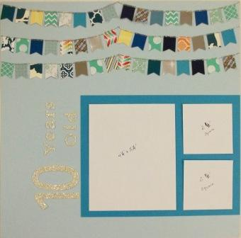 Banner Punch Scrapbook Page