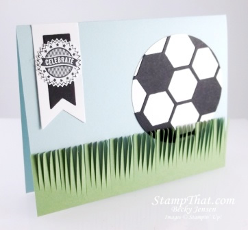 Stampin' Up1 Soccer Card