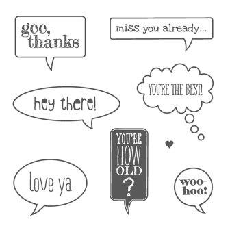 Stampin' Up! Just Sayin' Stamp Set