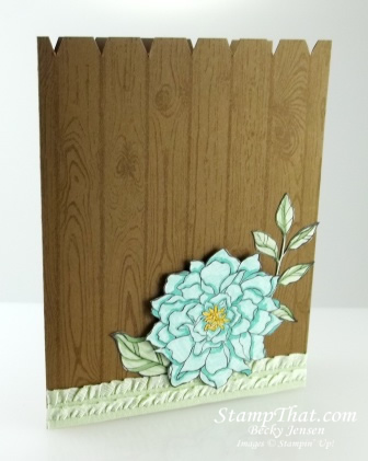 Peaceful Petals card